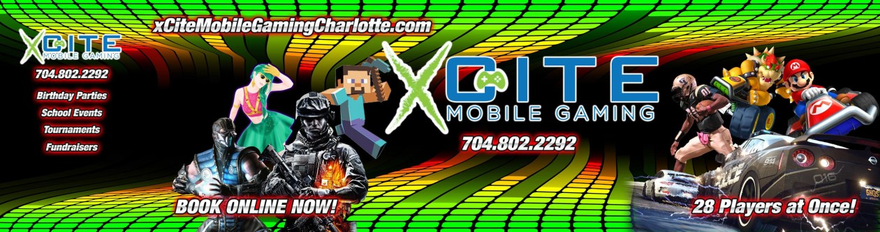 Xcite Mobile Gaming Charlotte – Video Game Parties in Greater Charlotte, NC